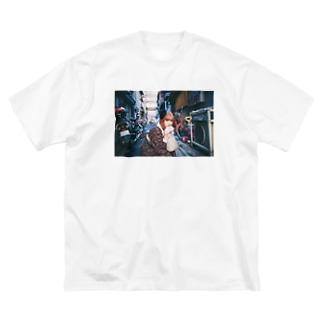 異文化交流 Big silhouette T-shirts