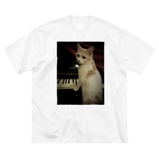 安定感企画 売店の安定感企画 猫編No.2 クイーン Big silhouette T-shirts