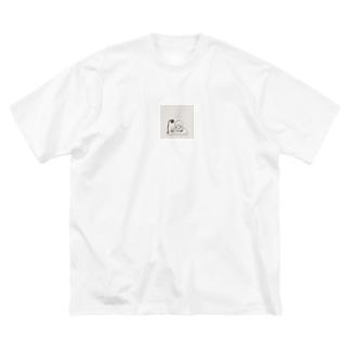 勉強 Big silhouette T-shirts