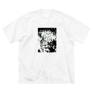 一粒の結晶 Big silhouette T-shirts