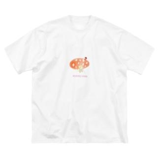 Kinoko girl Big silhouette T-shirts