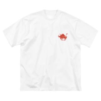 闘牛 Big silhouette T-shirts