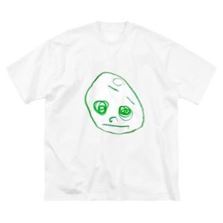2歳半の絵 くるりちゃん(仮) Big silhouette T-shirts