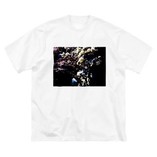 爛漫オブザイヤー Big silhouette T-shirts