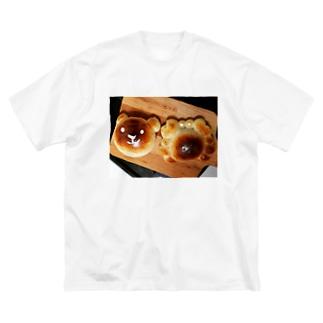 カニパンと熊パン Big silhouette T-shirts
