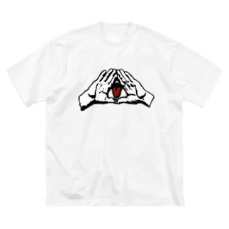 イルミナティ・タング(A) Big silhouette T-shirts