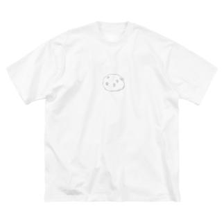 豆大福 Big silhouette T-shirts