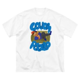 couch potato カウチポテト 050 Big silhouette T-shirts
