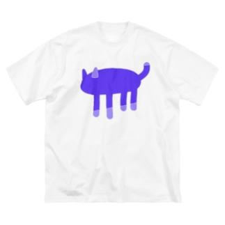 ヤミネコ Big silhouette T-shirts