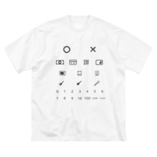 無言で買い物T 【VSコロナウイルス】 Big silhouette T-shirts