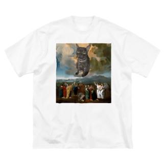 バツ丸くん Big silhouette T-shirts