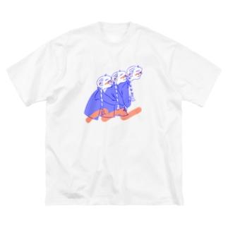 ひっつきっこ Big silhouette T-shirts