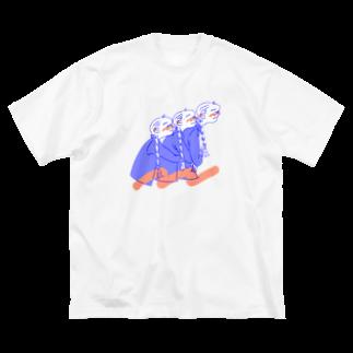 kameのひっつきっこ Big silhouette T-shirts