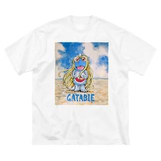 ガタビエ様 Big silhouette T-shirts