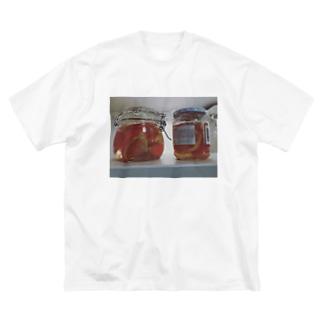 みかんの酵母作り Big silhouette T-shirts