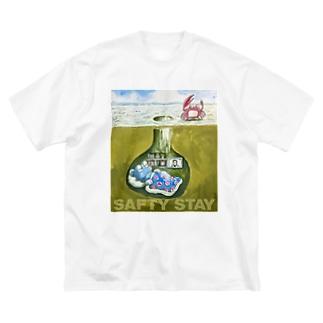巣穴のガタゴロウ SAFTY STAY Big silhouette T-shirts