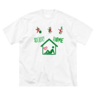 STAYHOME!! Big silhouette T-shirts