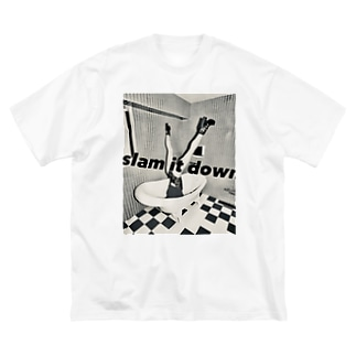 slam it down! ビックTシャツ(モノクロ) Big silhouette T-shirts