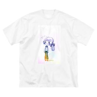 塩対応ちゃん Big silhouette T-shirts