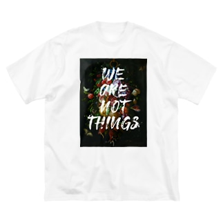 WE ARE NOT THINGS Big silhouette T-shirts