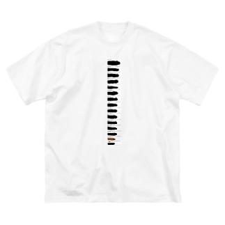 くらべてごらん Big silhouette T-shirts