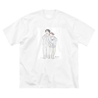 パジャマのカップル Big silhouette T-shirts