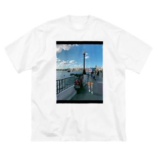 ハワ〜マルタ Big silhouette T-shirts