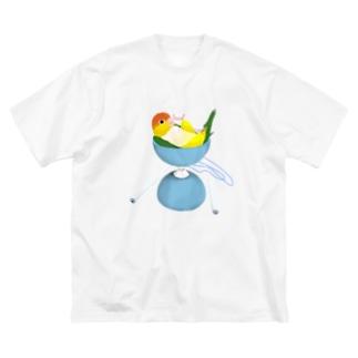 シロハラonディア A Big silhouette T-shirts