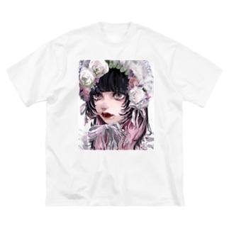 春ボンネット Big silhouette T-shirts