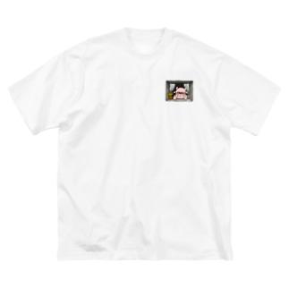 窓辺のGREEY Big silhouette T-shirts