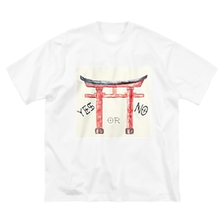 通リャンセ Big silhouette T-shirts
