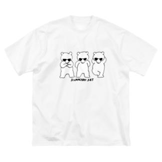 KUMACHAN SET🐻🕶 Big silhouette T-shirts