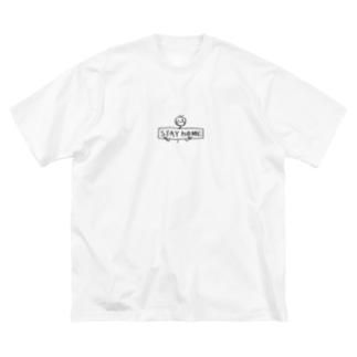 ChRiSUMA STAY hOME Big silhouette T-shirts