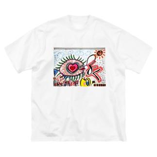 欲 Big silhouette T-shirts