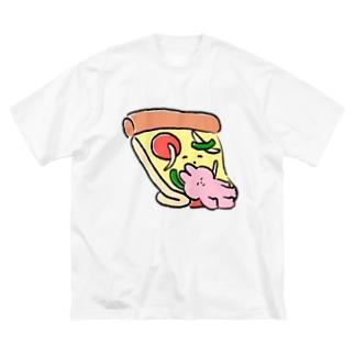 ピザ枕 Big silhouette T-shirts