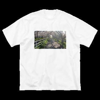applegingerのサクラトンネル Big silhouette T-shirts