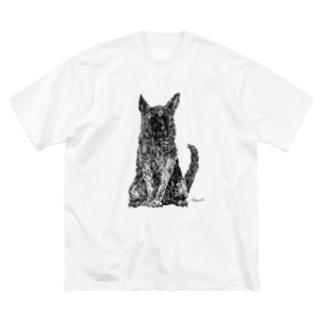 シェパード Big silhouette T-shirts