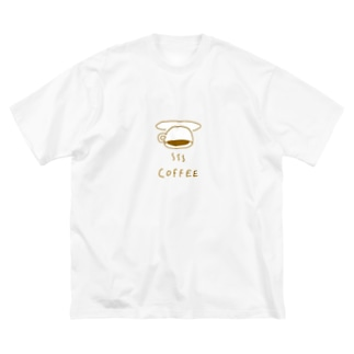 みっこのさかさCOFFEE Big silhouette T-shirts