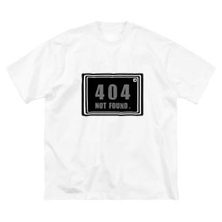 mxxaの404 NOT FOUND. Big silhouette T-shirts