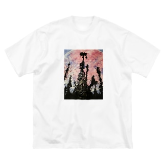 yuuwa6969の欲望の終焉 Big silhouette T-shirts