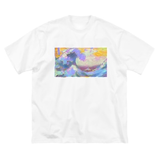 インスタ映えを意識しすぎた葛飾北斎 Big silhouette T-shirts