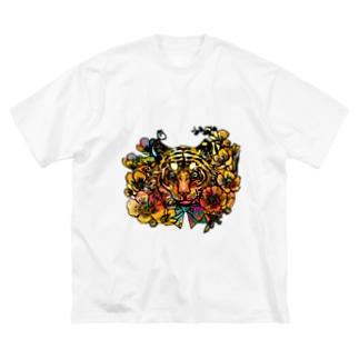 黄金の旋風 Big silhouette T-shirts