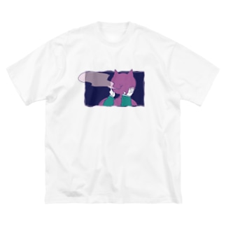 ヘビースモーカーNEKODAと女のグッズ Big silhouette T-shirts