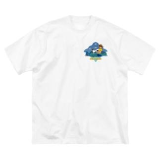 Fish Cruising Big silhouette T-shirts
