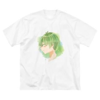 🍀なあ♠️ Big silhouette T-shirts