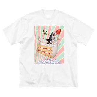 シャークケーキ Big silhouette T-shirts