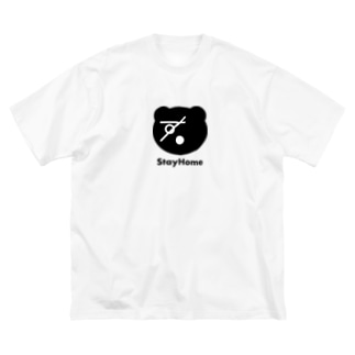 sugomoriくま(StayHome) Big silhouette T-shirts