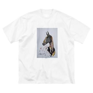 アハル・テケ Big silhouette T-shirts