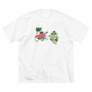 てんぐちゃんとカッパくん Big silhouette T-shirts