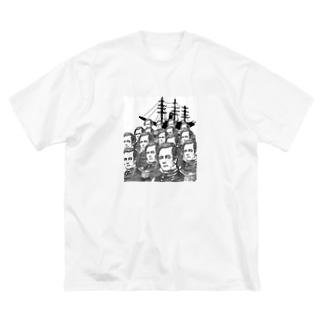 ペリーいっぱい来航 Big silhouette T-shirts